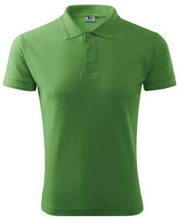 tricou polo pique unisex verde iarba