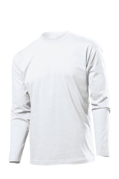 Tricou cu maneca lunga basic alb