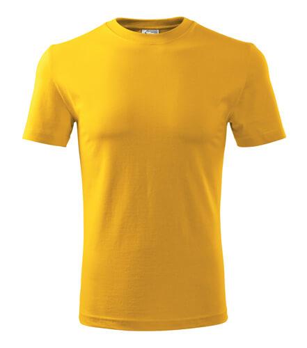 tricou clasic new galben