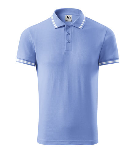 tricou polo urban albastru deschis