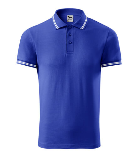 tricou polo urban albastru regal