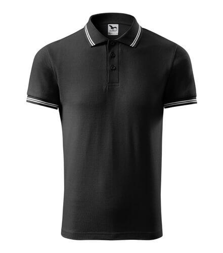 tricou polo urban negru