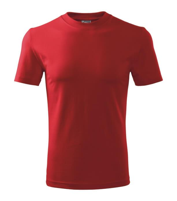 Tricou clasic economic de bărbaţi New roşu