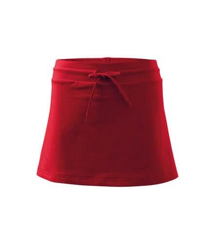 fusta pantalon rosu