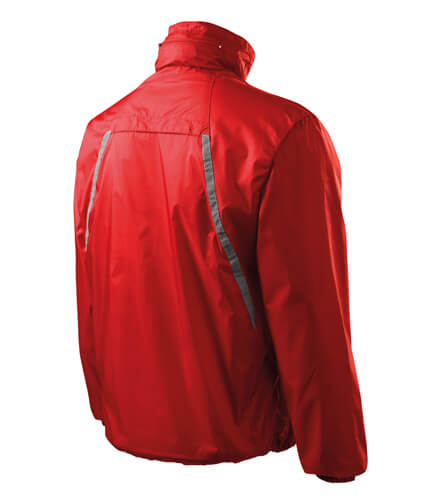 jacheta de protectie impotriva vantului rosie