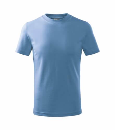 tricou copii basic albastru deschis