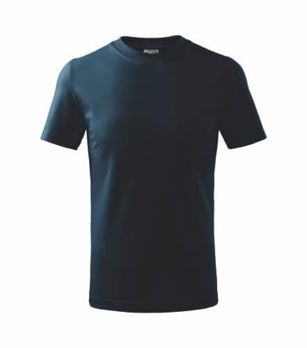 tricou copii basic albastru marin