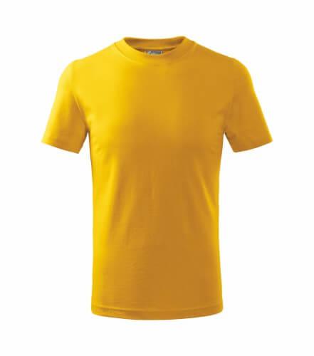 tricou copii basic galben