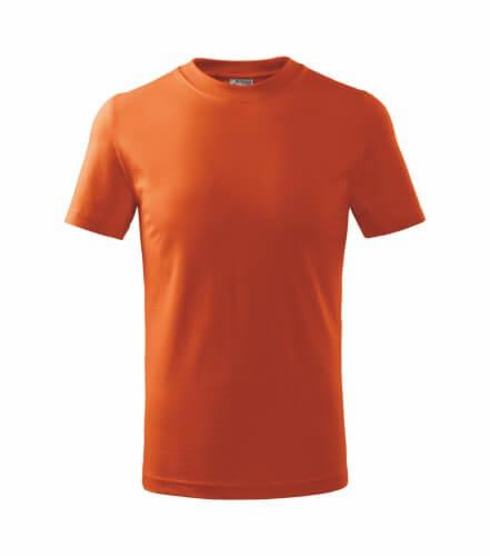 tricou copii basic portocaliu