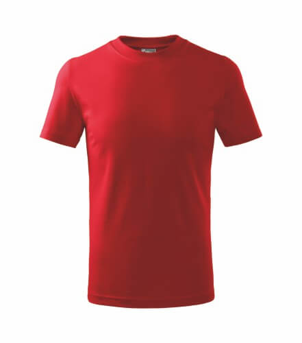 tricou copii basic rosu