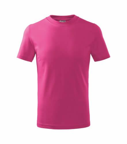 tricou copii basic roz zmeura