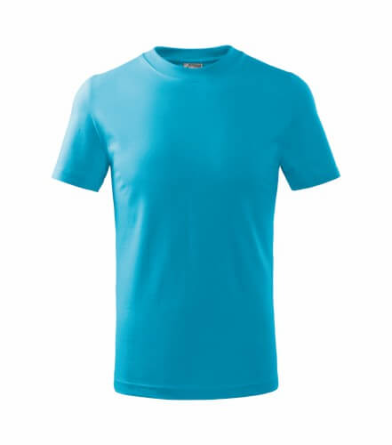 tricou copii basic turcoaz