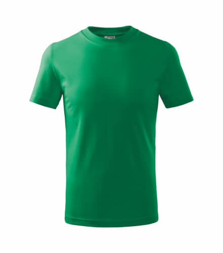tricou copii basic verde mediu