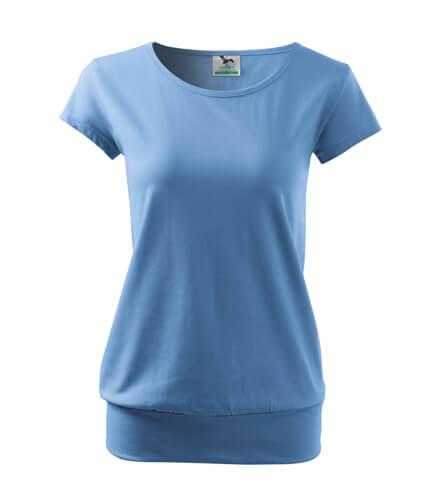 tricou dama city albastru deschis