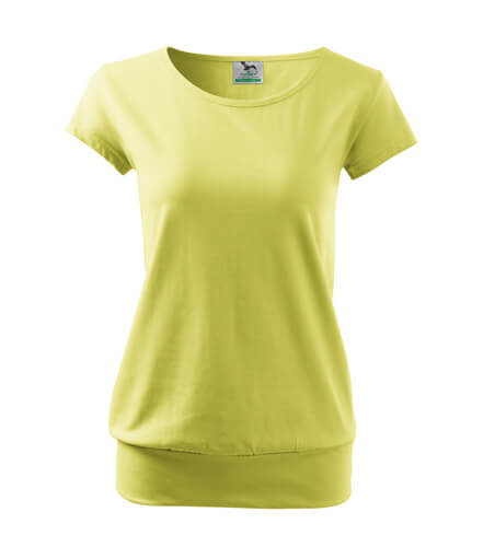 tricou dama city verde deschis