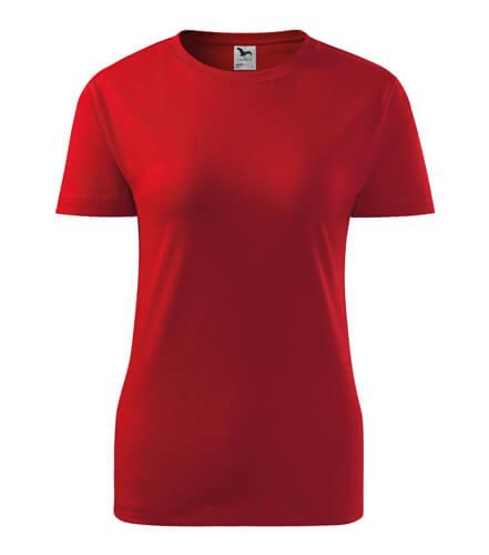 tricou dama clasic economic new rosu