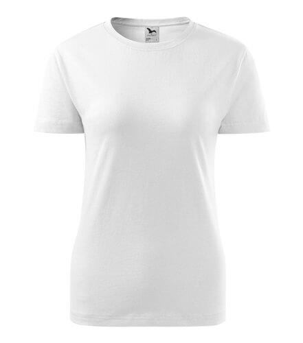 tricou dama clasic new alb