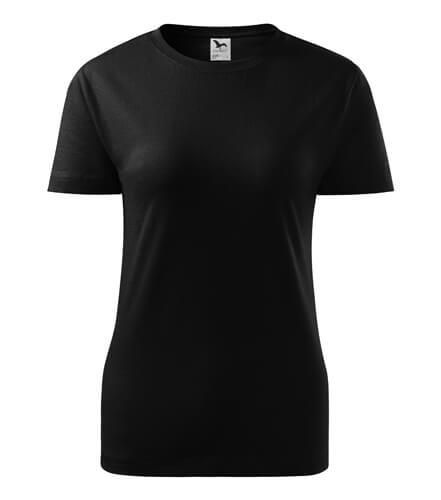 tricou dama clasic new negru