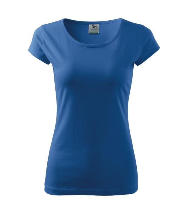 tricou dama elegant pure albastru azuriu