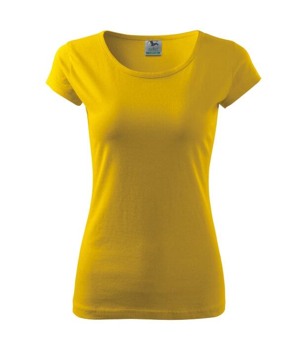 tricou dama elegant pure galben
