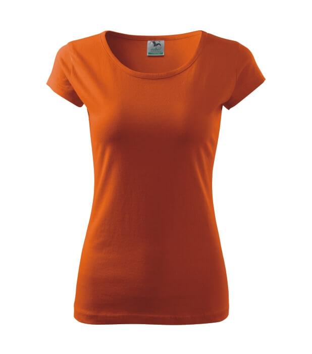 tricou dama elegant pure portocaliu