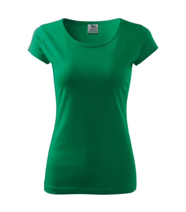 tricou dama elegant pure verde mediu