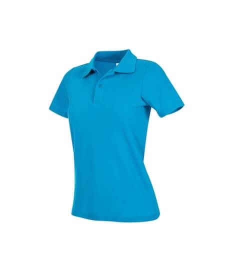 tricou super polo dama albastru oceanic ok