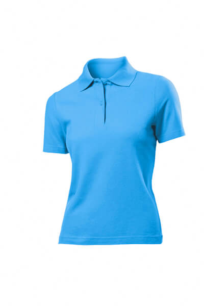 tricou super polo dama bleu