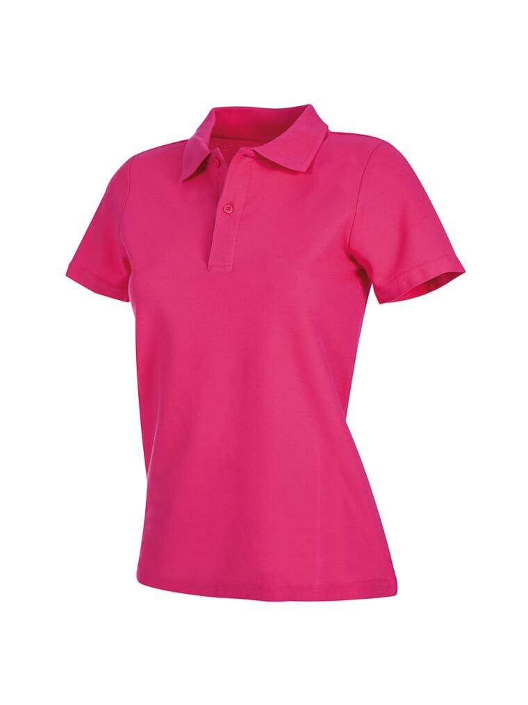 tricou super polo dama roz inchis ok