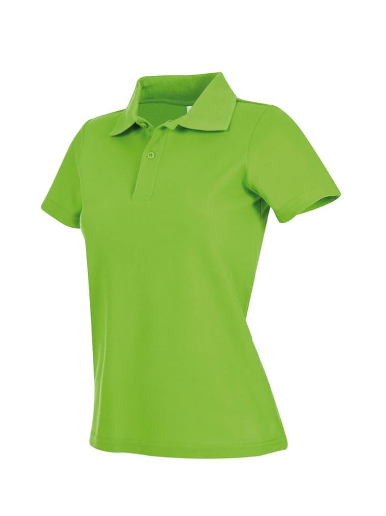 tricou super polo dama verde kiwi ok