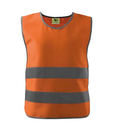 vesta reflectorizanta pentru copii portocalie