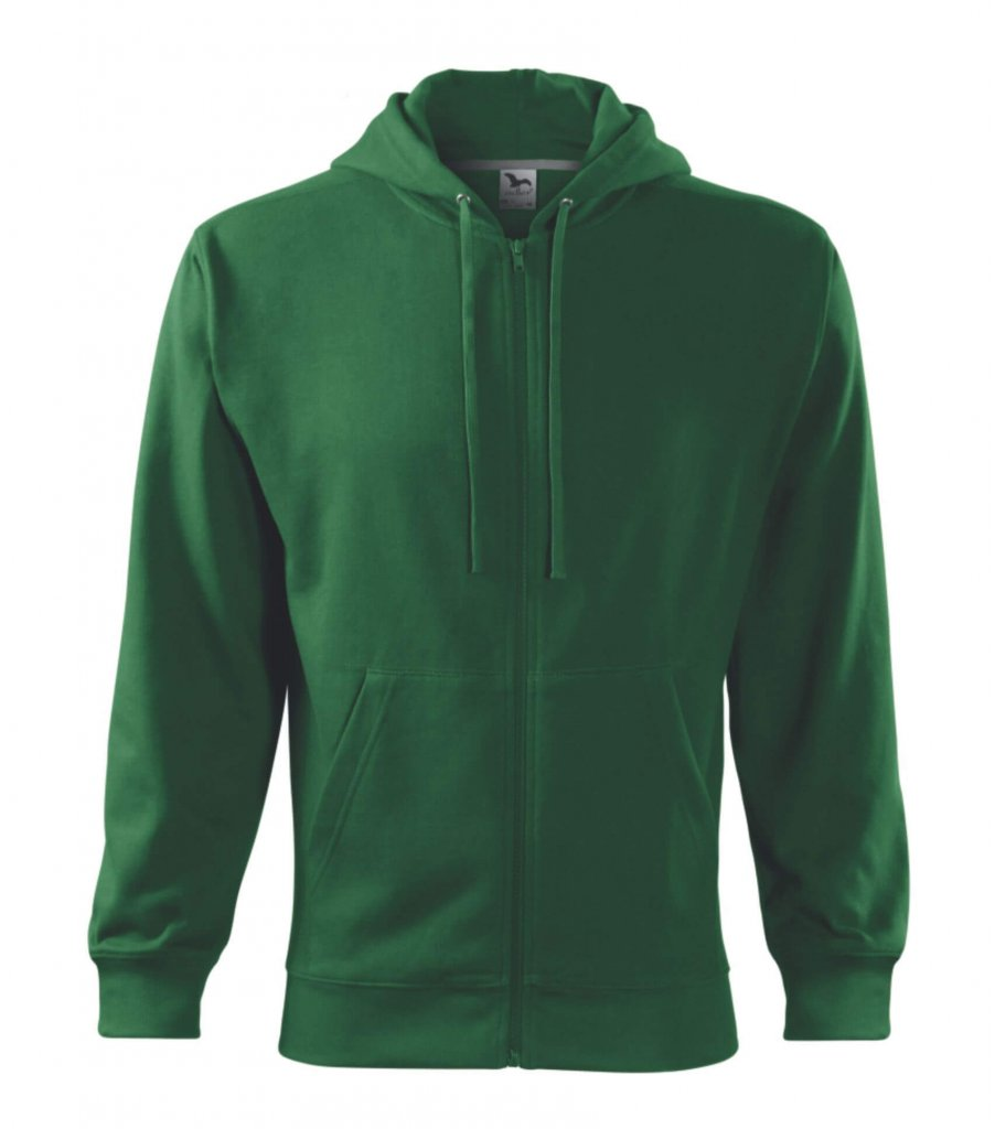 hanorac trendy zipper verde sticla