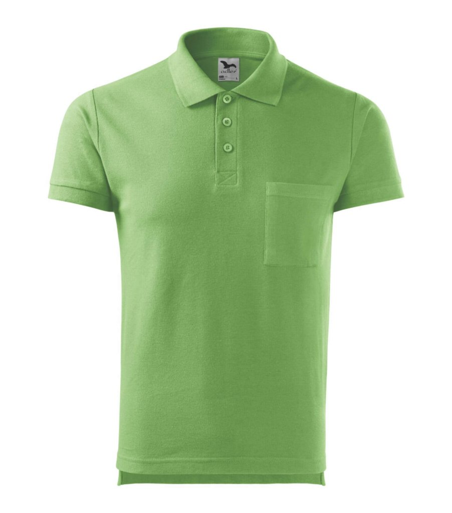 trico polo verde sticla