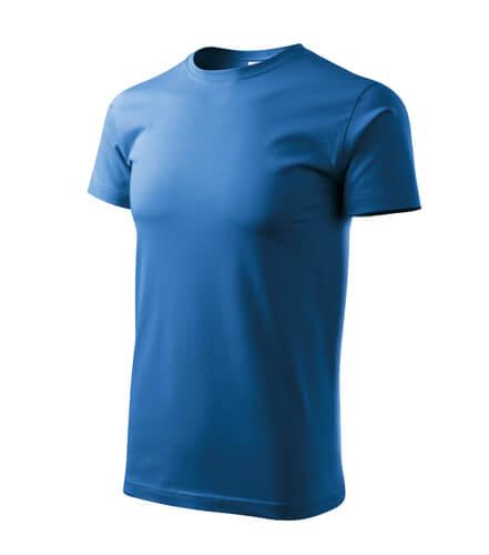 tricou basic albastru azuriu