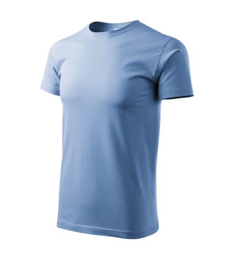 tricou basic albastru deschis