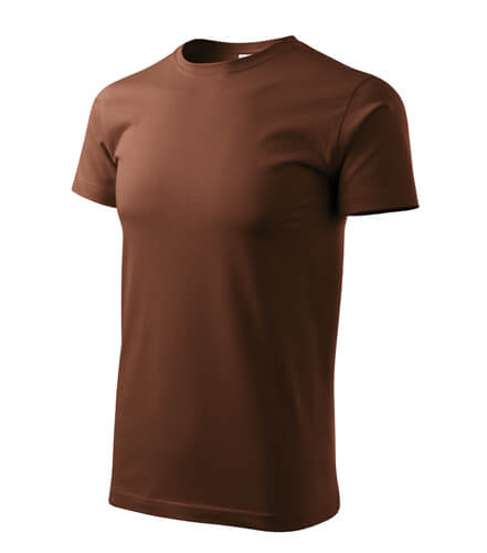 tricou basic ciocolatiu
