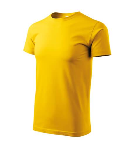 tricou basic galben