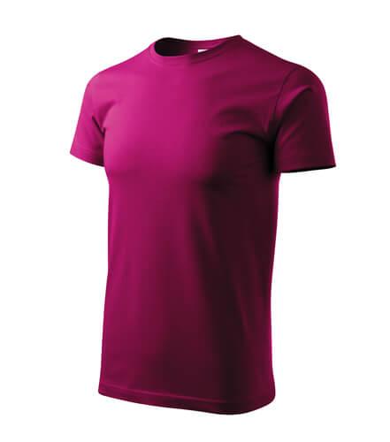 tricou basic rosu fucsie