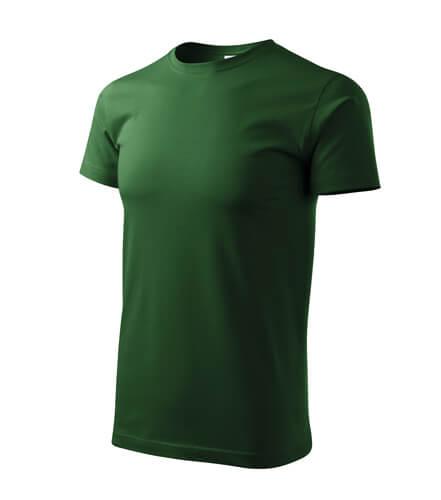 tricou basic verde sticla