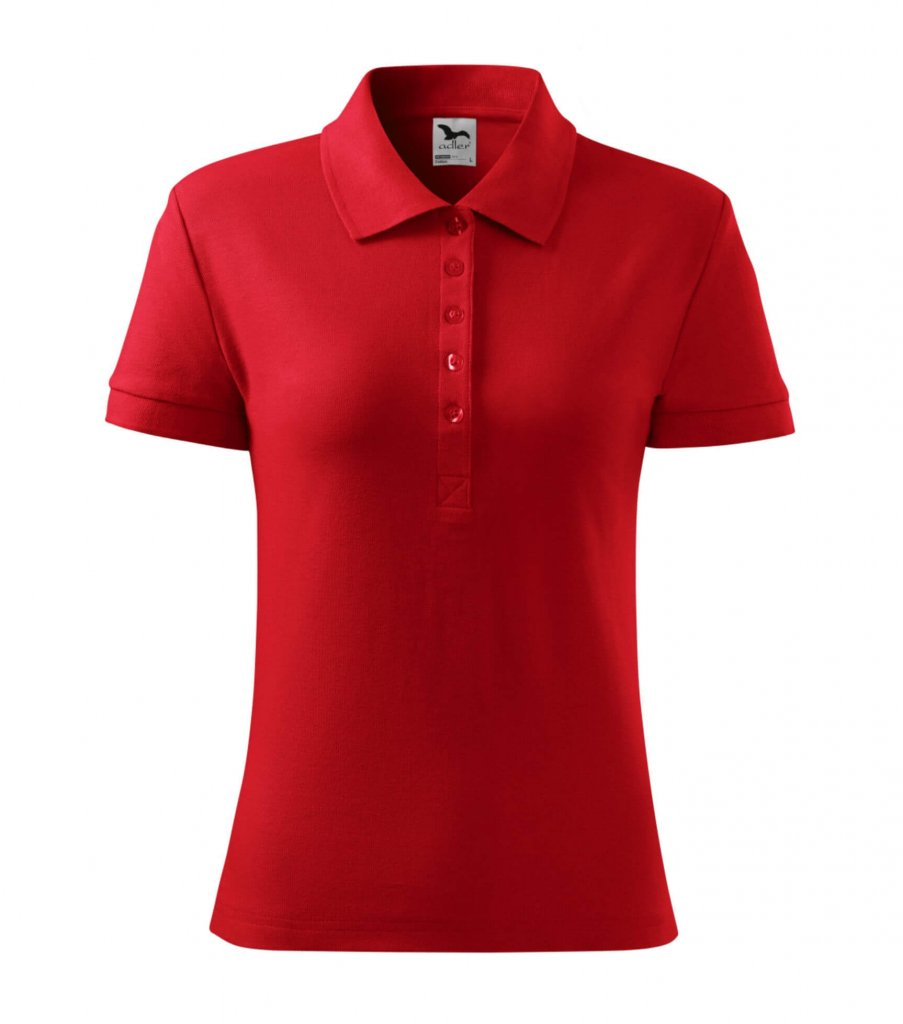 tricou dama polo cotton heavy rosu