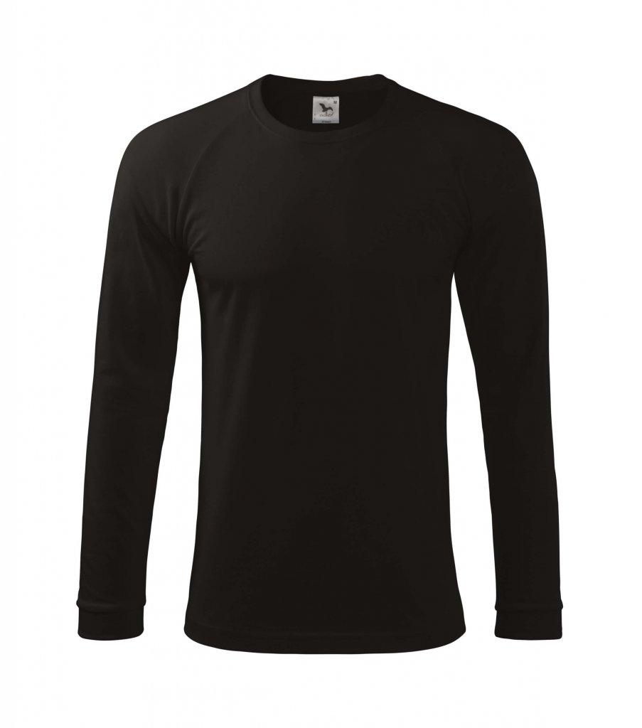 tricou negru cu maneca lunga 180 grame