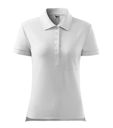 tricou polo  alb cotton de dama