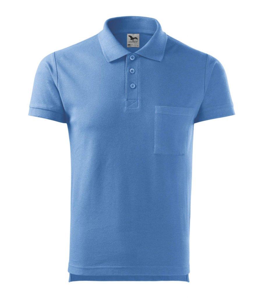 tricou polo albastru deschis