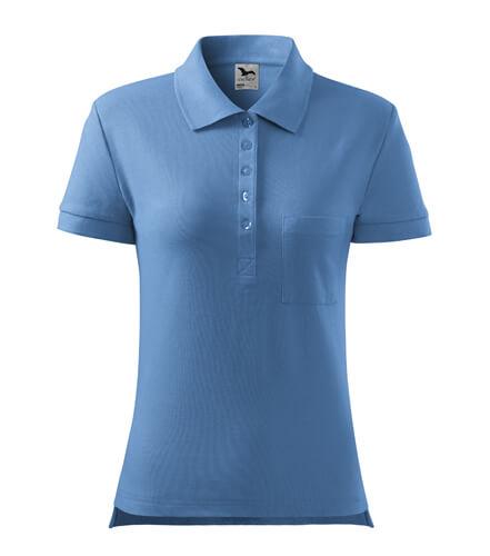 tricou polo dama albastru deschis