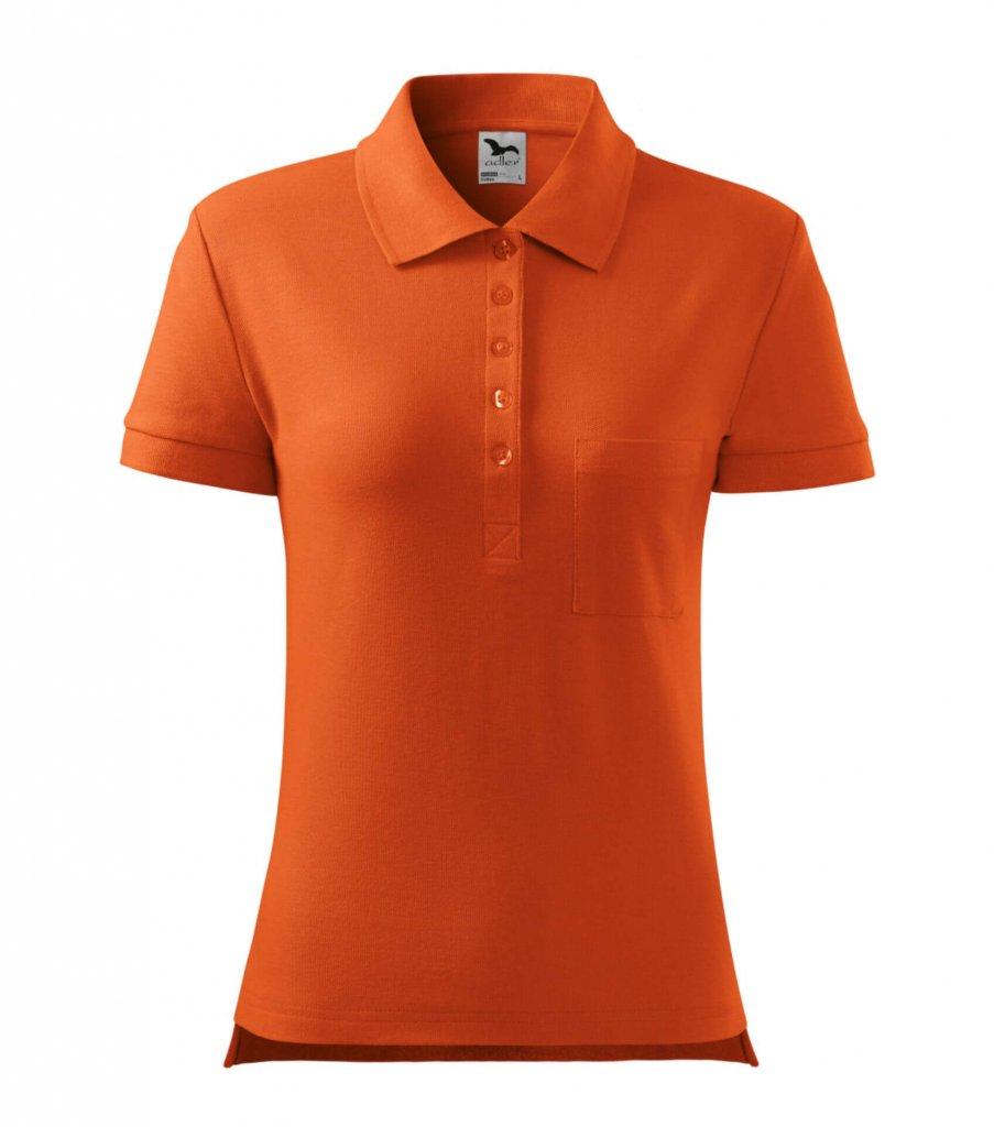 tricou polo dama bumbac portocaliu