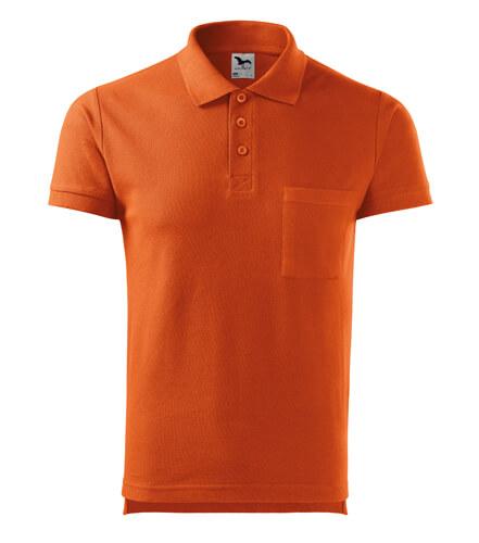 tricou polo portocaliu