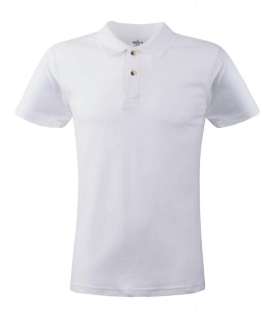 tricou polo alb