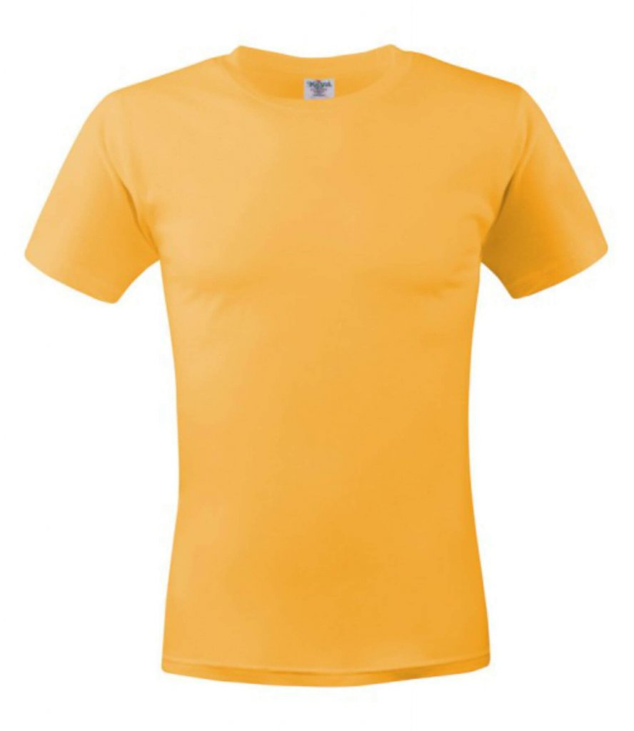 tricou unisex MC 150  gold yellow