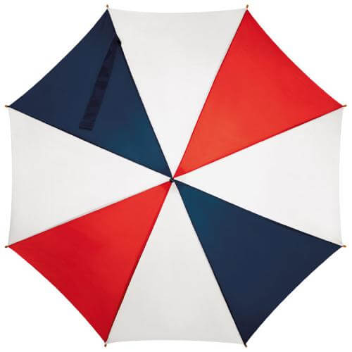 umbrela alb rosu albastru