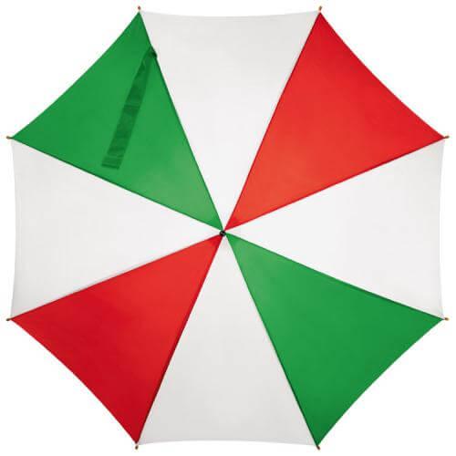 umbrela alb rosu verde